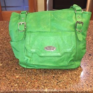 EUC KELLY GREEN KATE LANDRY SHOULDER BAG